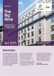 The Big Nine   Quarterly review of the regional office occupier markets   Q4 2015